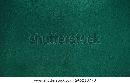 Green leather texture background - stock photo