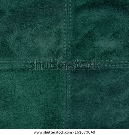 green  leather texture closeup, stitch