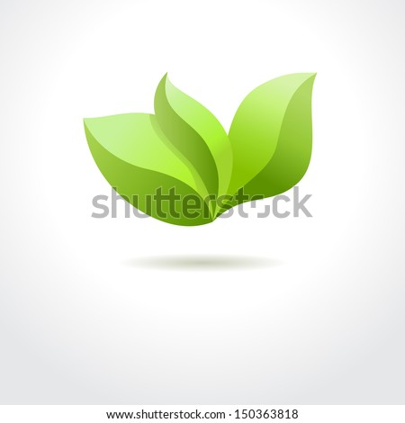 Green leaves. Eco concept - stock photo