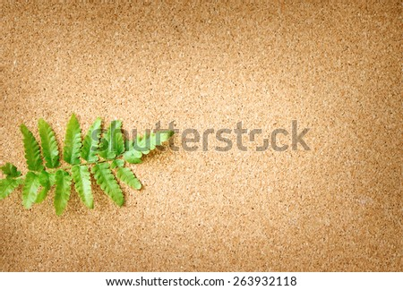 green leaves isolated is on wooden background - stock photo