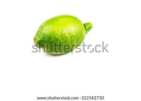 Green Lemon with White background