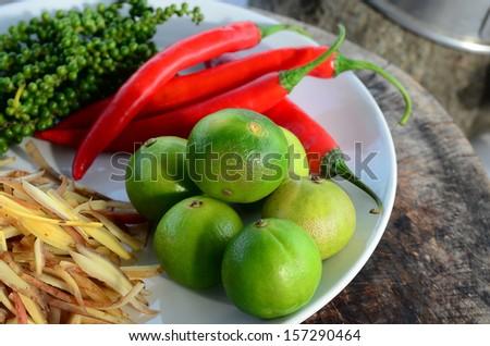 green lemons - stock photo