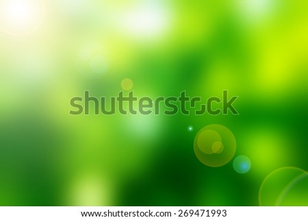 Green light background, Abstract green background.