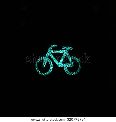 Green light for bicycle lane as a traffic light - stock photo