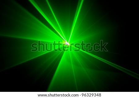 green lights beam - stock photo