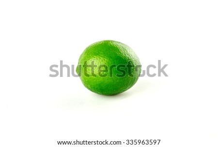 Green lime isolated with copy space