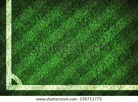 Green lined football field