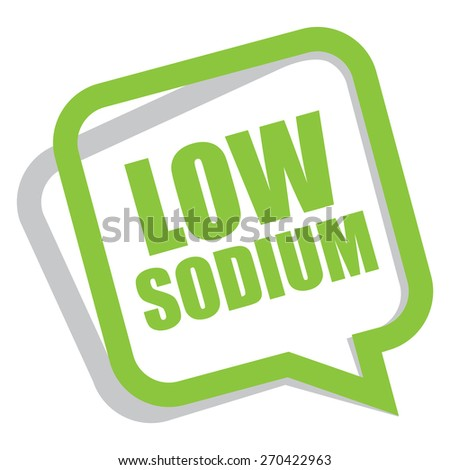 Green low sodium speech bubble speech balloon sticker sign icon label