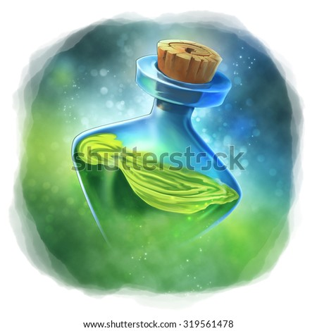 Green Magic Potion - stock photo