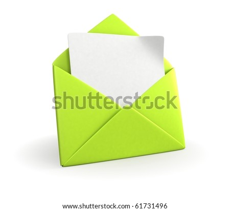 Green Mail Envelope