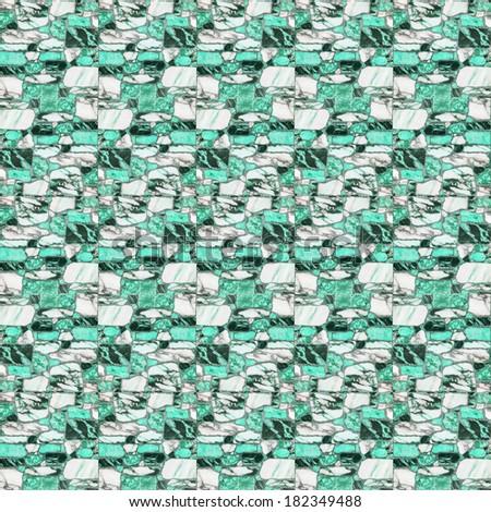green marble floor tiles - stock photo