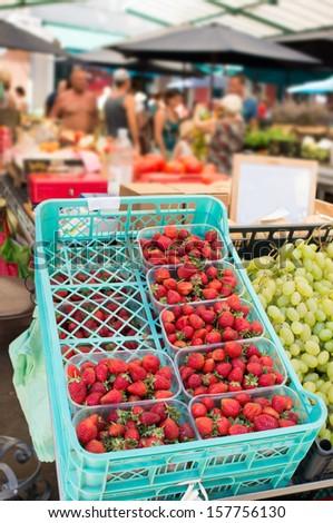green market - stock photo
