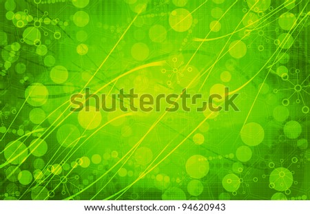 green Medical Science Futuristic Technology Abstract Background - stock photo
