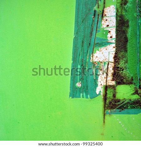green metal background - stock photo