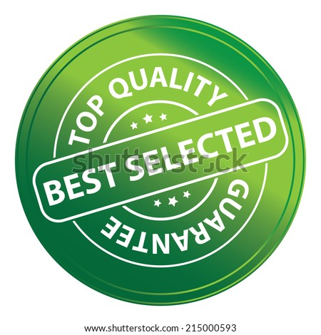 Green Metallic Style Best Selected Top Quality Icon, Sticker, Label or Badge Isolated on White Background
