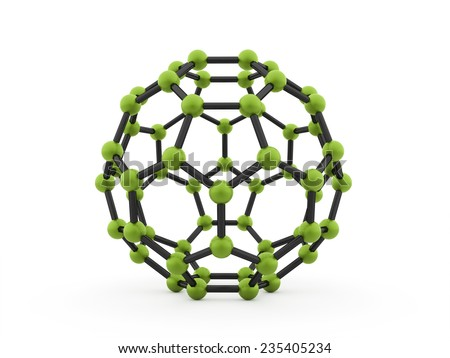 Green molecular mesh tube structure rendered
