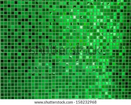 Green mosaic - stock photo