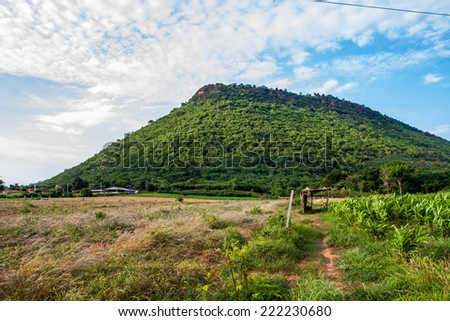 Green mountain - stock photo