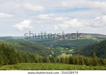 Green mountains in the wicklow, Glendalough, Ireland