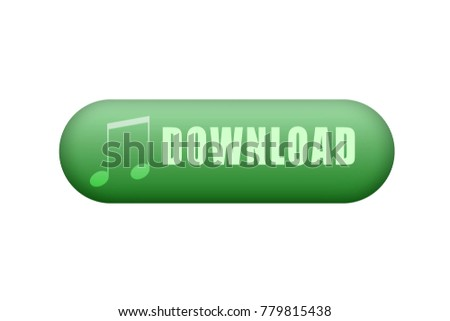 Green music download button.