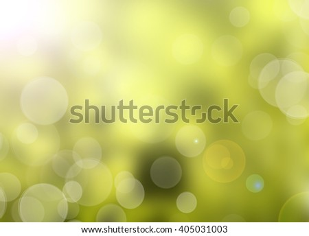 Green nature background with abstract bokeh lights