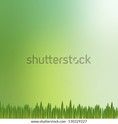 green nature background with grass