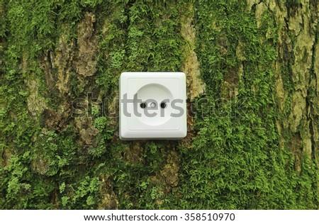 Green nature energy concept - stock photo