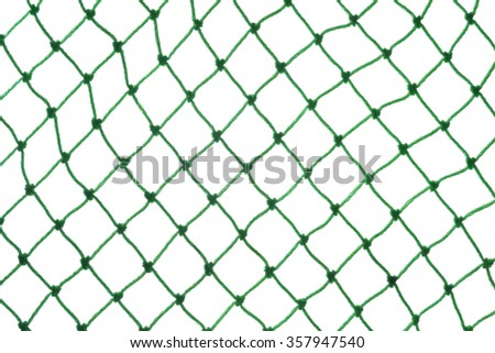 green net isolated on white - stock photo
