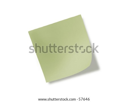 Green Note - stock photo