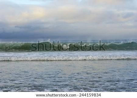 Green ocean - stock photo