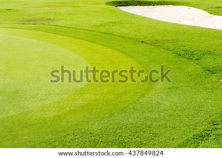 Green of golf course - stock photo