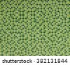 green of mosaic tiles wall background - stock photo