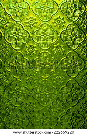 Green of Stained glass - stock photo