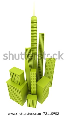 Green Office Buildings - stock photo