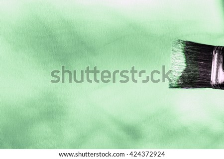 green oil painted canvas - stock photo