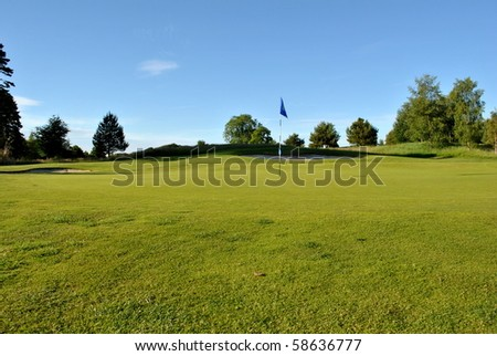 green on a golf course