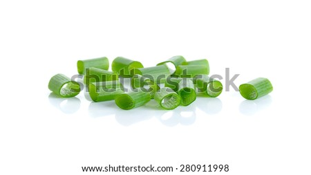 Green onion isolated on the white background.