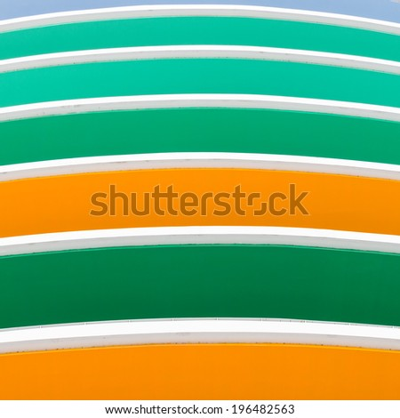Green, Orange Color Bar