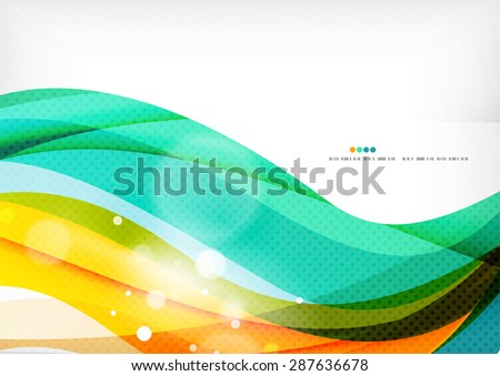 Green orange yellow colors shiny line concept. Graphic message board - stock photo