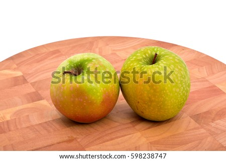 Green organic apples