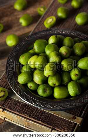 Green Organic Kiwi Berries in a Bowl