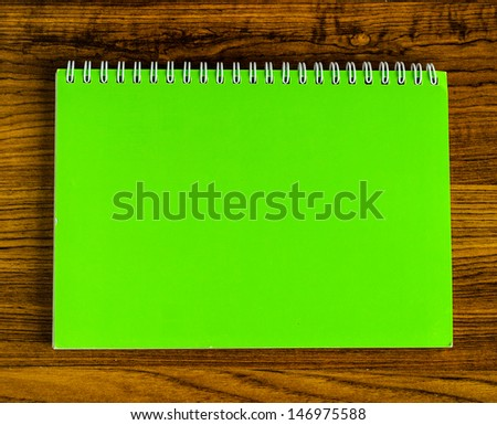 Green Page Notebook, Photo Taken on: 22/07/2013 - stock photo