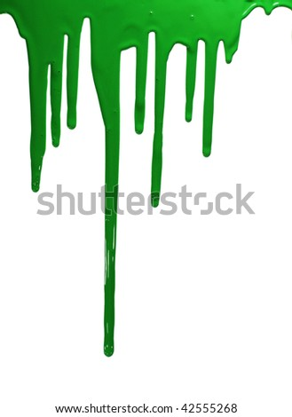 Green paint isolated.