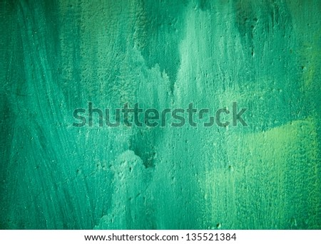 green painted background - stock photo