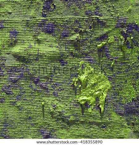 Green painted net surface texture closeup background. - stock photo