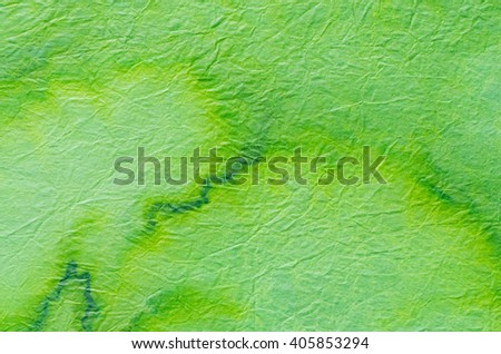 green painted paper tissue background - stock photo