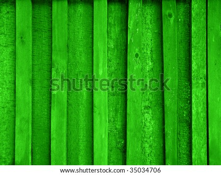 green painted wooden plank background