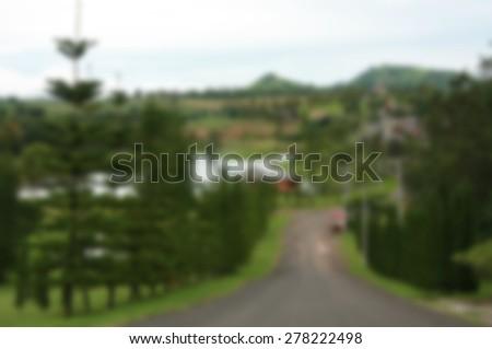 green park blur background - stock photo