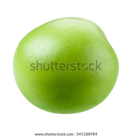 Green pea isolated on white. With clipping path. - stock photo