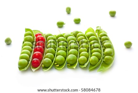 Green peas and red currant mix - stock photo